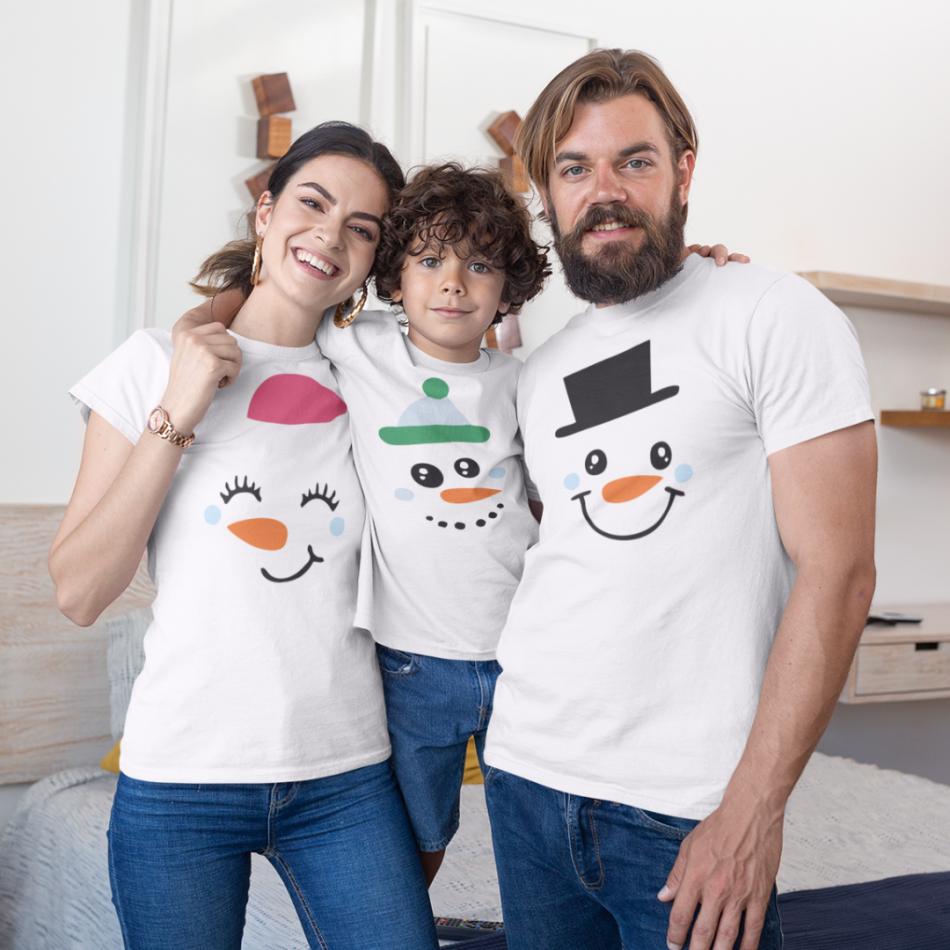 Vánoce rodinný set v bílé barvě Merry Christmas Happy Family