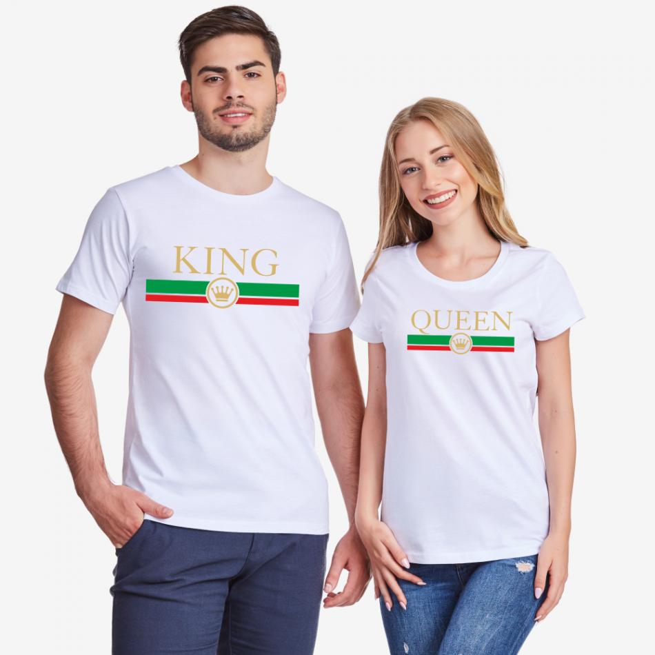 Bílá trička pro páry King - Queen RG