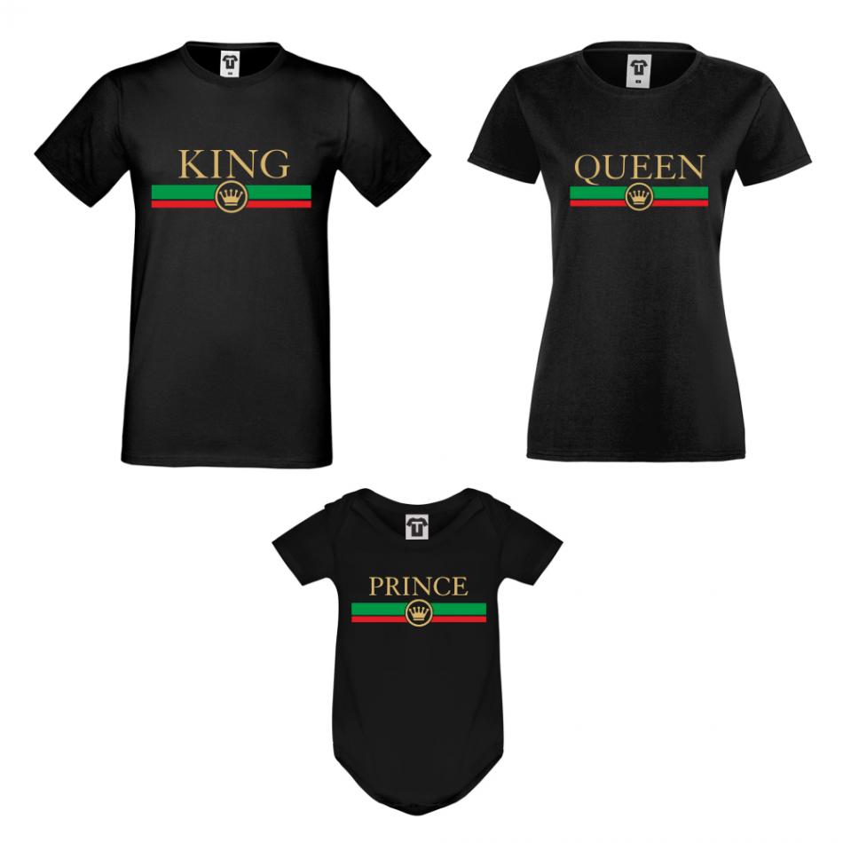 Rodinný set v bílé nebo černé barvě King - Queen - Prince RG