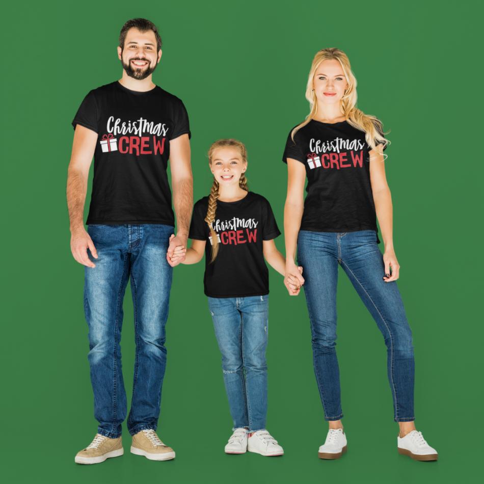 Vánoční rodinná sada v černé barvě Christmas Present