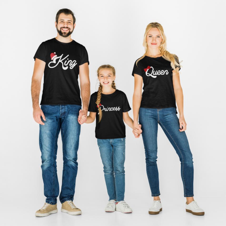 Vánoční rodinná sada v černé barvě Christmas Royal Family