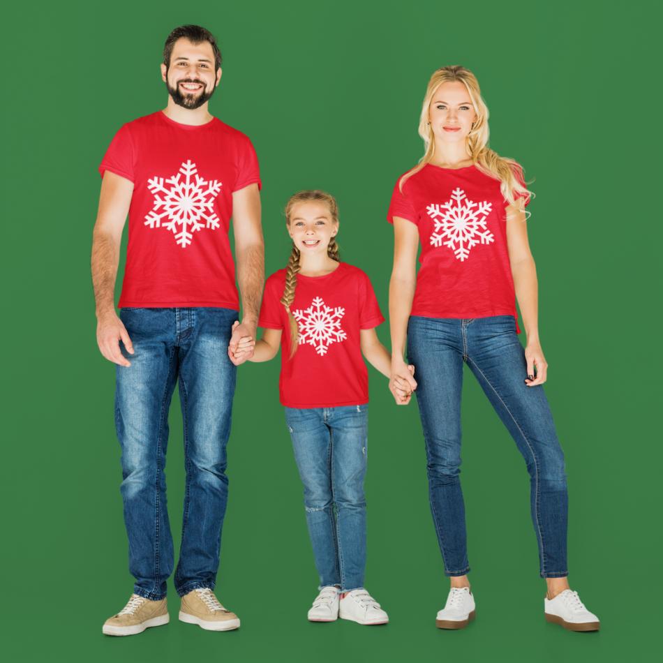 Vánoční rodina sada v červené barvě SnowFlake