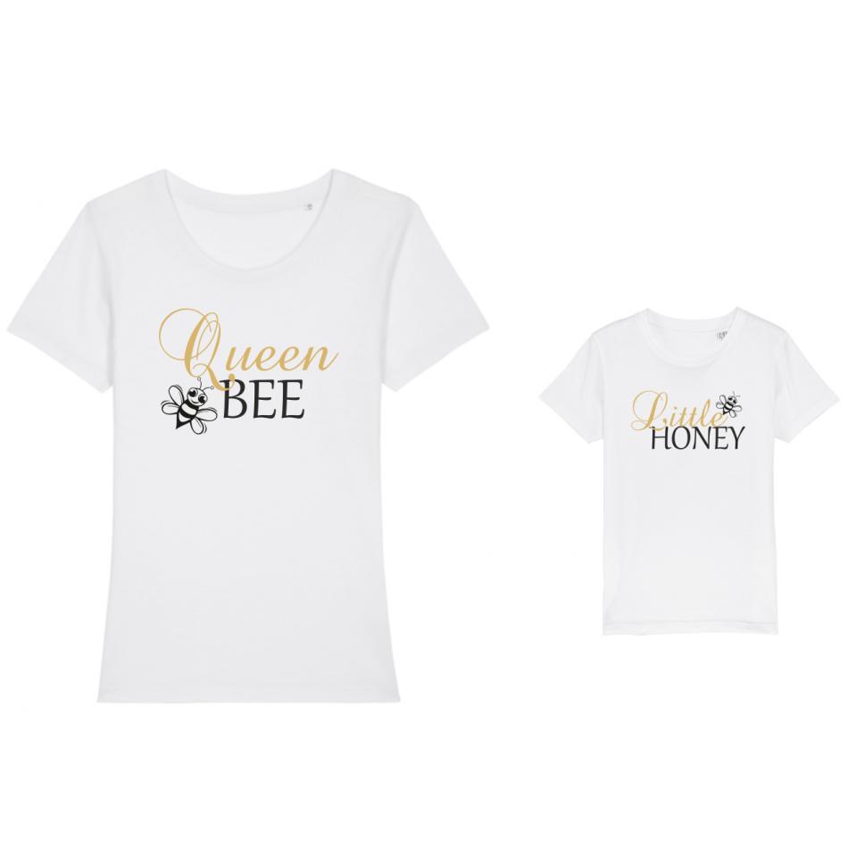 Trička pro matku a dítě Bee Queen