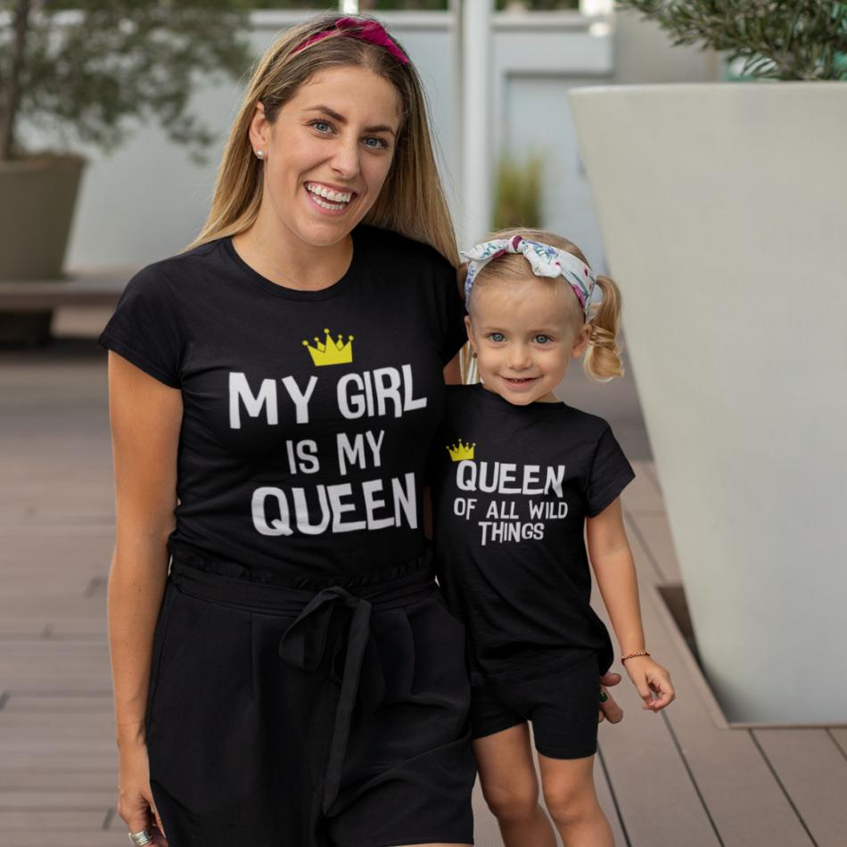 Trička pro matku a dceru My Girl Is My Queen
