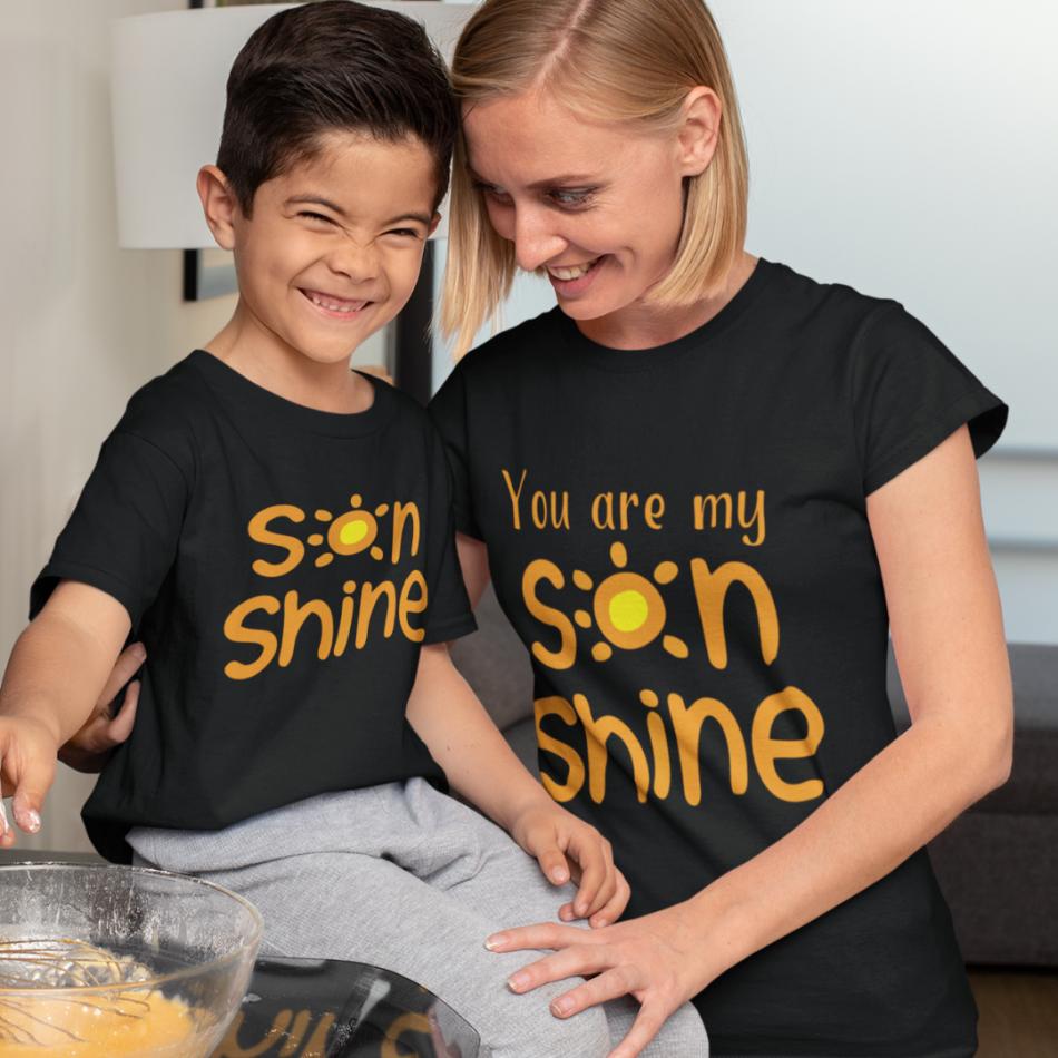 Trička pro matku a syna Sonshine