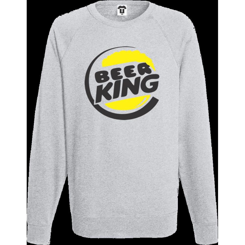 76b072cae7ce Šedé pánské triko s dlouhým rukávem BEER KING - BD-M-271G - TShirt24.cz