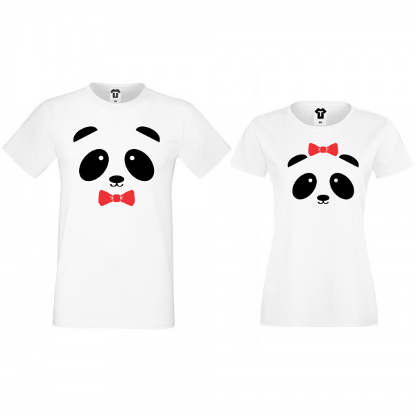 Trička pro páry Sweet Panda
