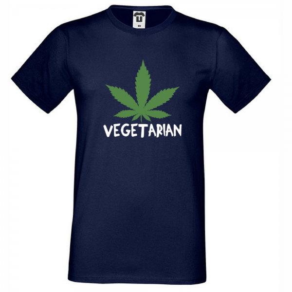 Pánské tričko Tmavě Modré Vegetarian