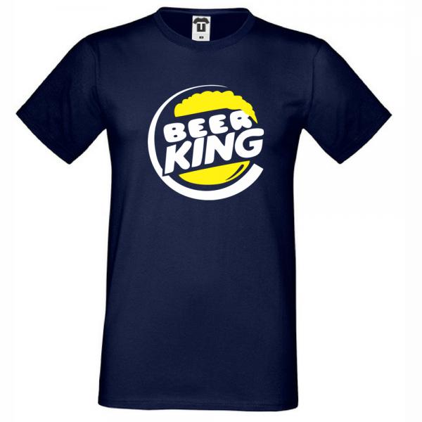 Pánské tričko Tmavě Modré BEER KING