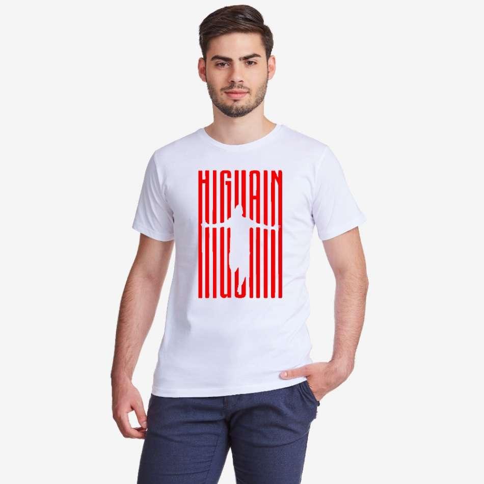 Pánské bílé tričko Higuain Milan