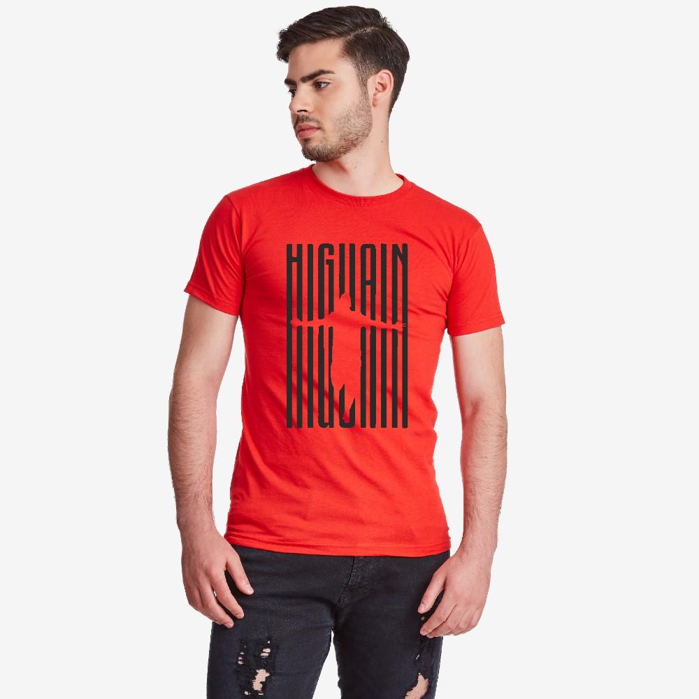 Pánské červené tričko Higuain Milan