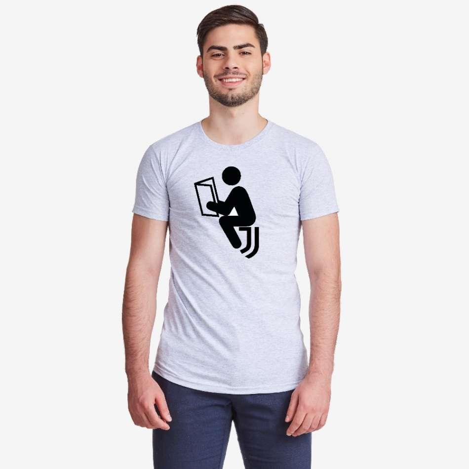 Pánské šedé tričko Anti Juve