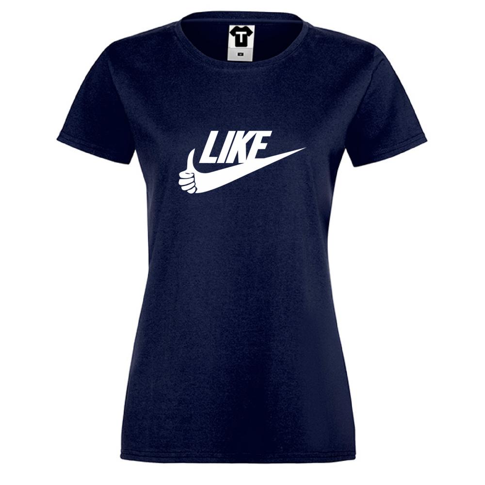 Tmavě modré Dámské tričko LIKE