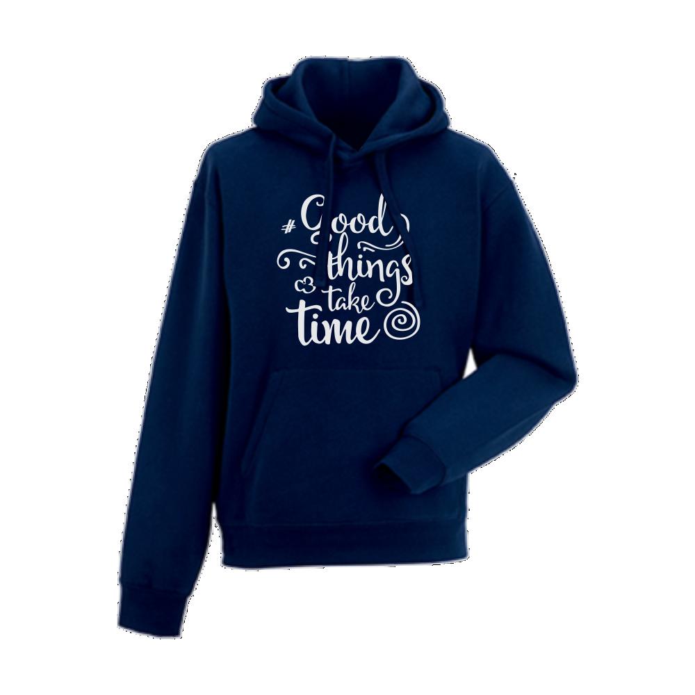 Panska mikina Tmavě modré Good things take time