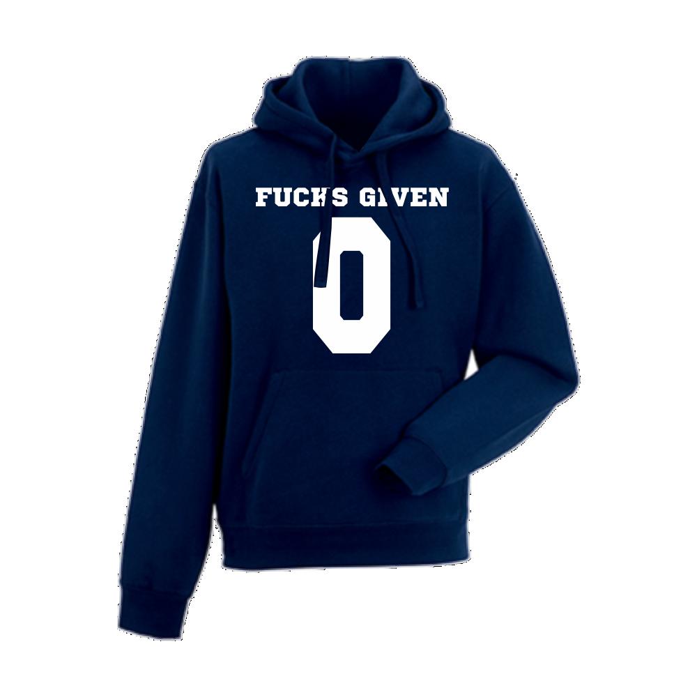Tmavě modrá pánská mikina F*cks Given 0