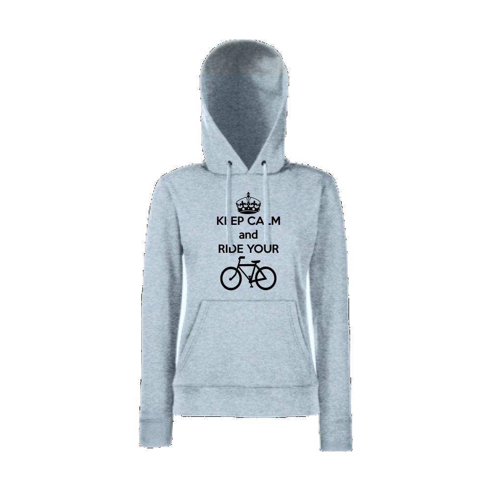 Dámská mikina Keep Calm nd Ride your Bike