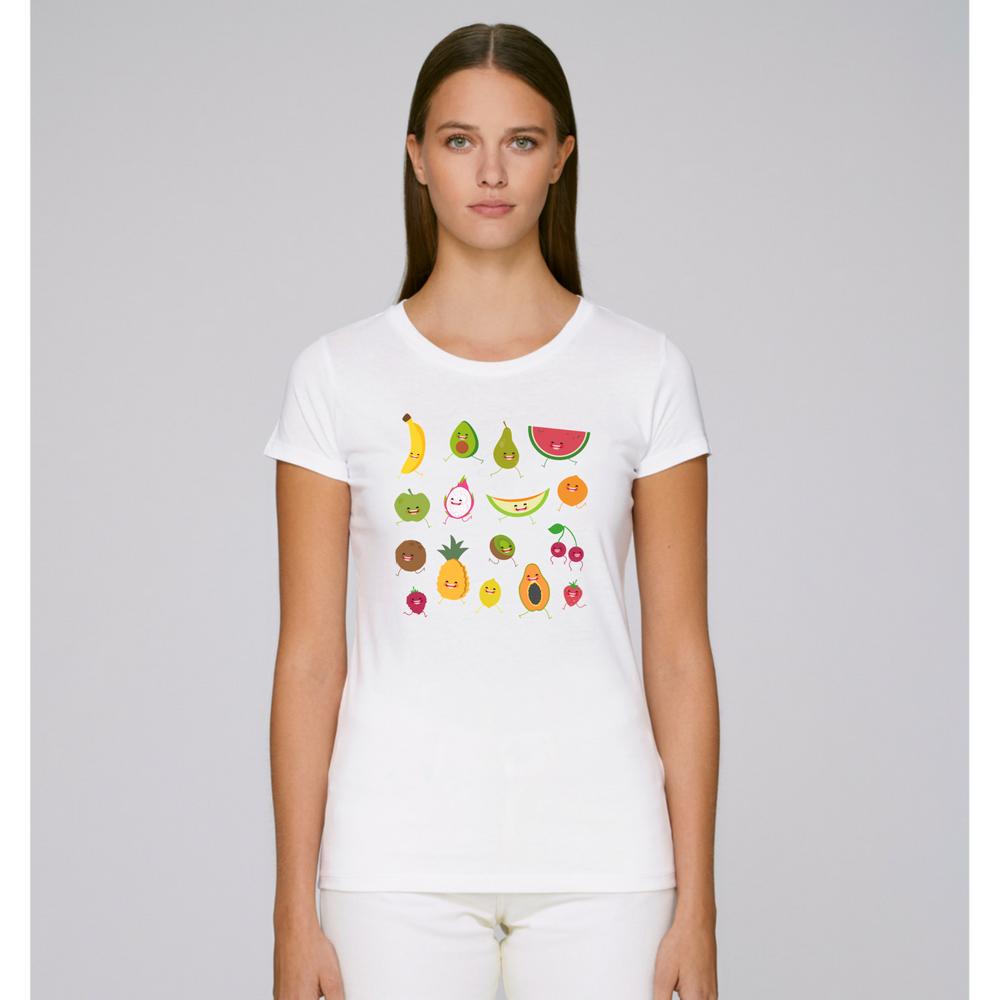 Dámské tričko Bílá Fruits