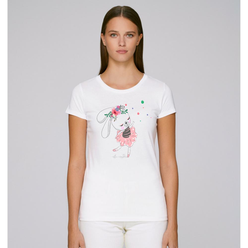 Dámské tričko Bílá Rabbit Ballet Dancer