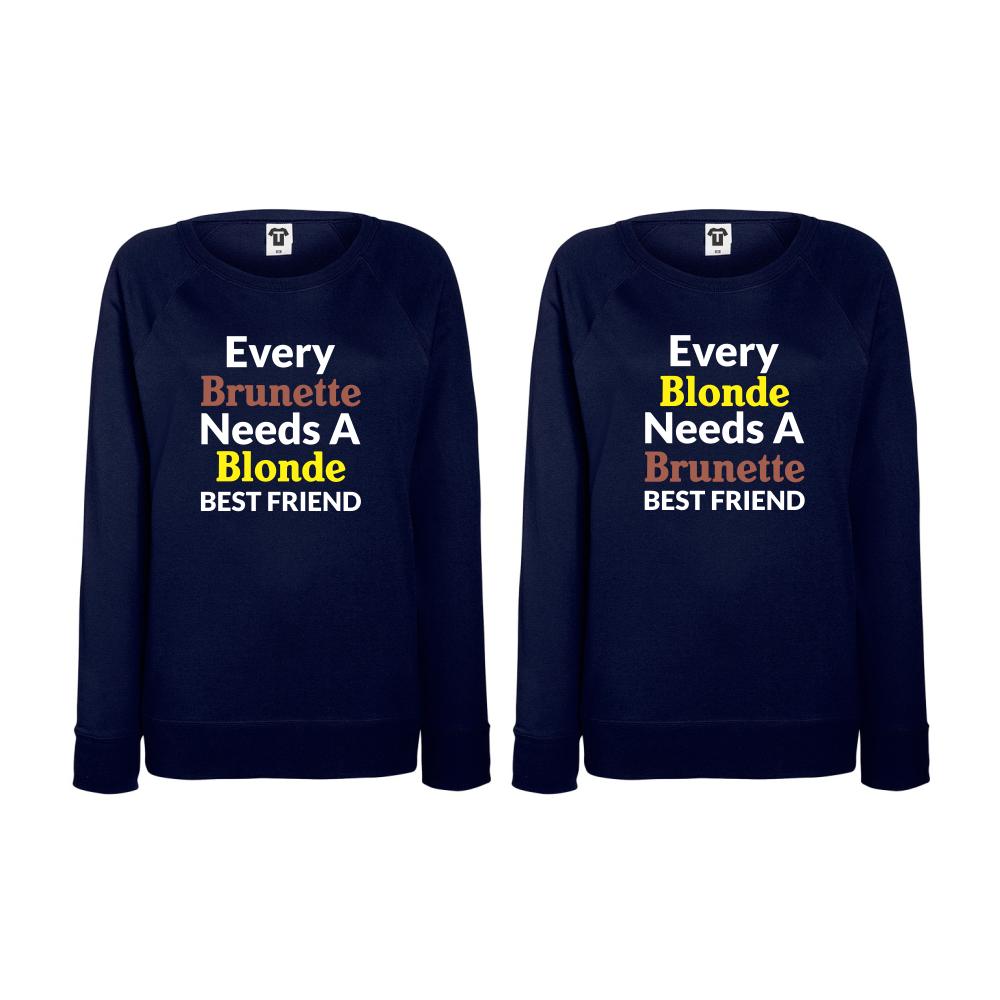 Set triko s dlouhým rukávem Every Blonde  needs BD-CP-004N