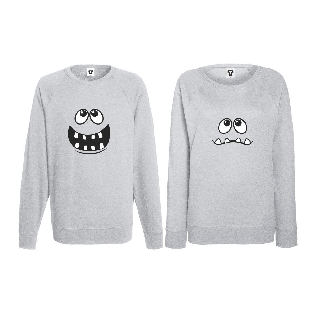 Set trička s dlouhým rukávem pro páry Big Smile BD-CP-012G