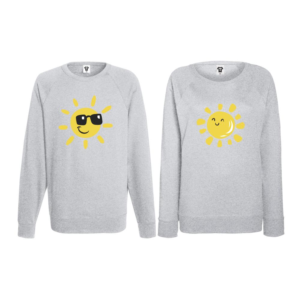 Set trička s dlouhým rukávem pro páry Sun, Smile and Sunglasses BD-CP-036G