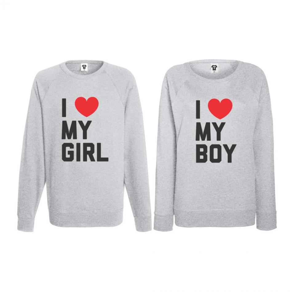 Set triko s dlouhým rukávem I LOVE MY BOY BD-CP-071G