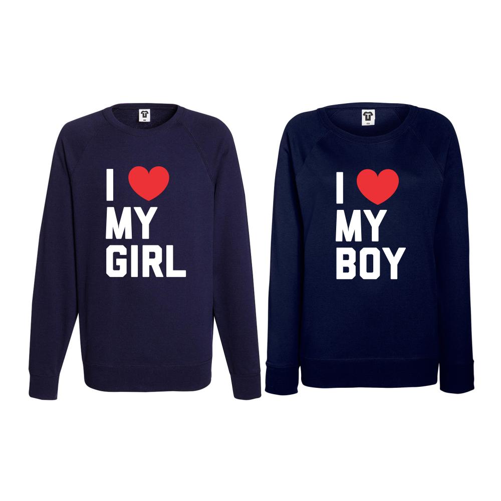 Set triko s dlouhým rukávem I LOVE MY BOY BD-CP-071N