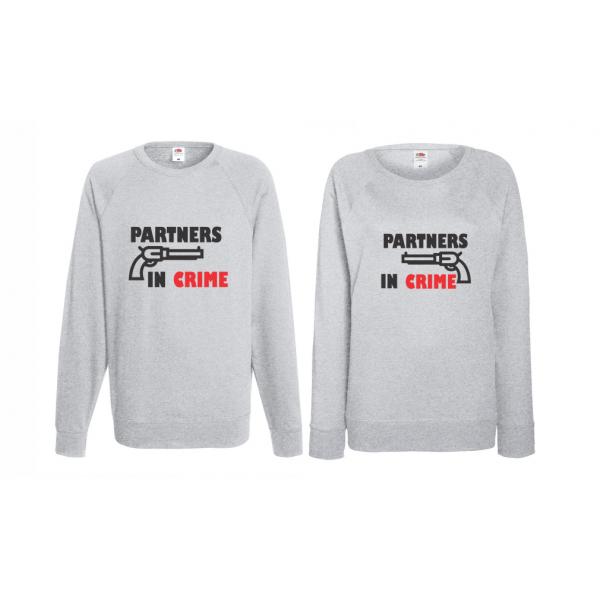 Set trička s dlouhým rukávem pro páry Partners in Crime BD-CP-164G