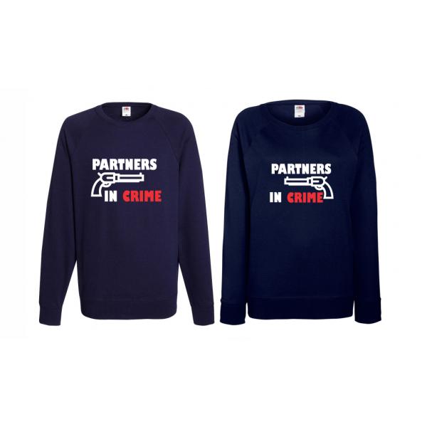 Set trička s dlouhým rukávem pro páry Partners in Crime BD-CP-164N