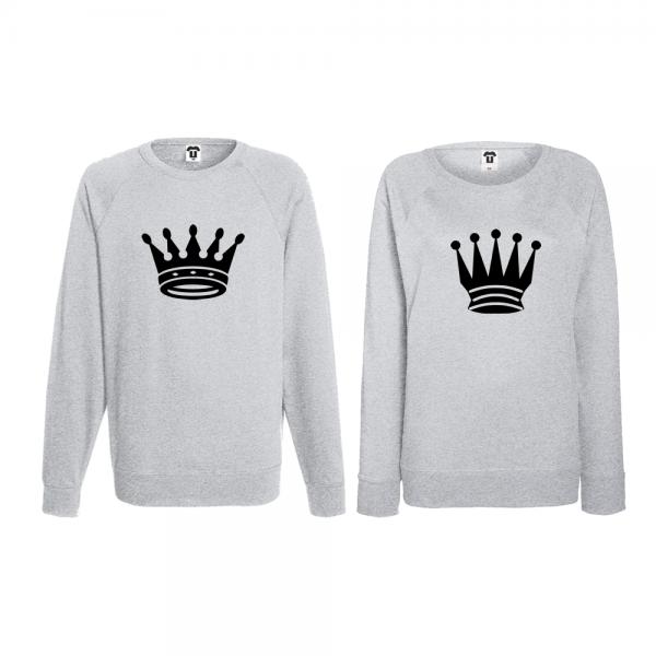 Set trička s dlouhým rukávem pro páry Big Crowns