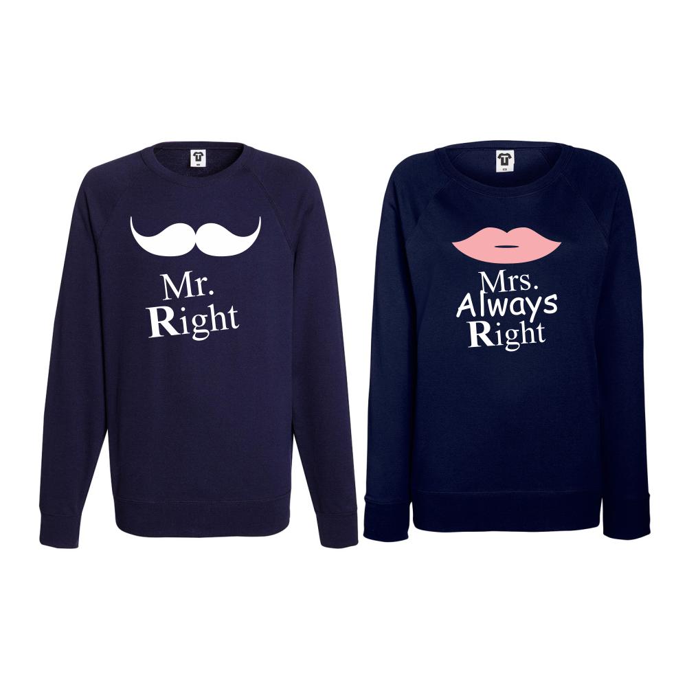 Set triko s dlouhým rukávem Mrs Always Right BS-CP-007N