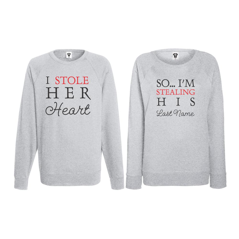Set triko s dlouhým rukávem I Stole Her Heart BS-CP-016G