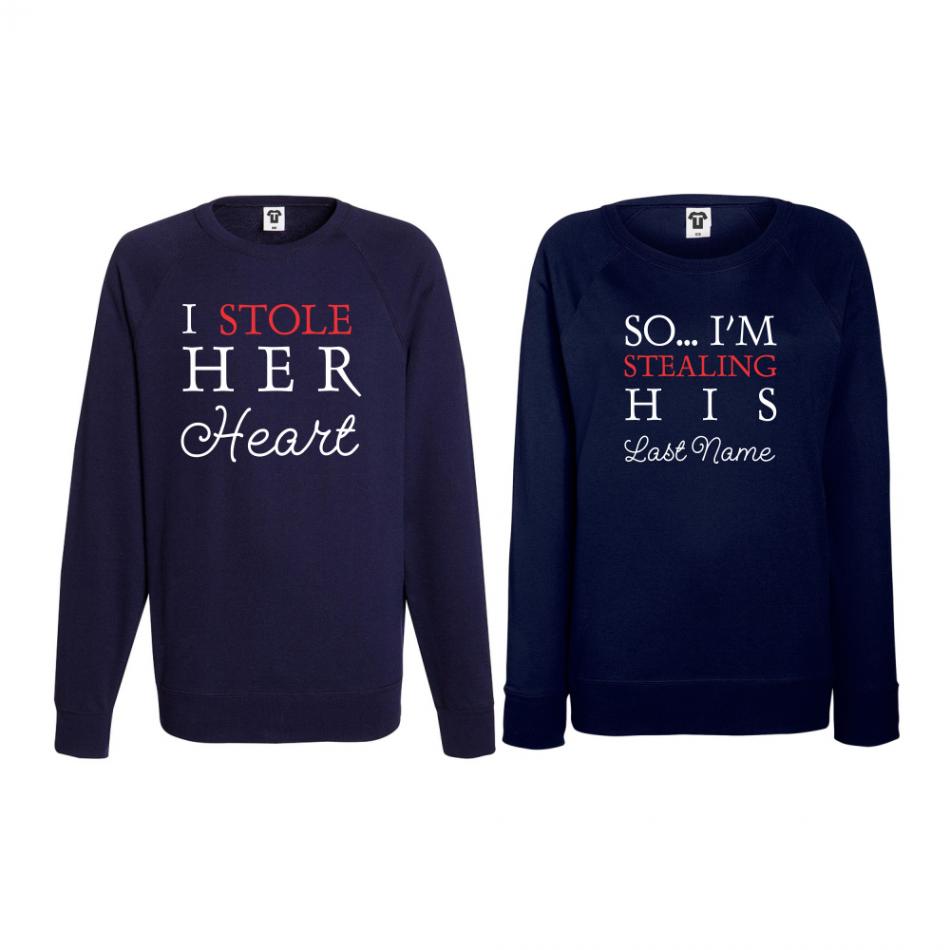 Set triko s dlouhým rukávem I Stole His Heart BS-CP-016N