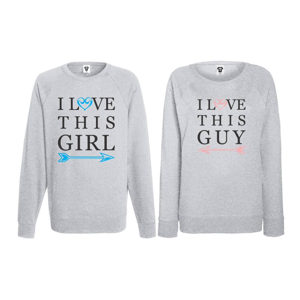 Set triko s dlouhým rukávem I Love This Girl BS-CP-017G