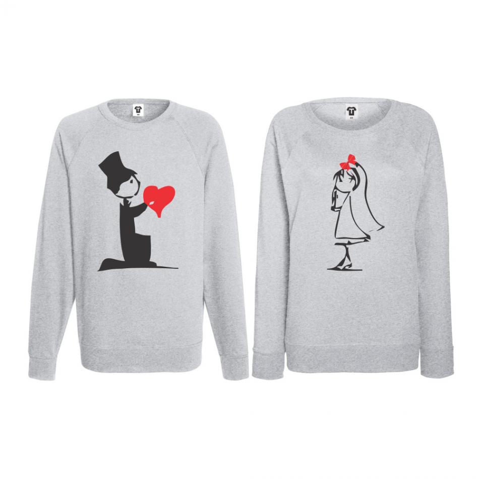 Set triko s dlouhým rukávem Cute Couple BS-CP-018G