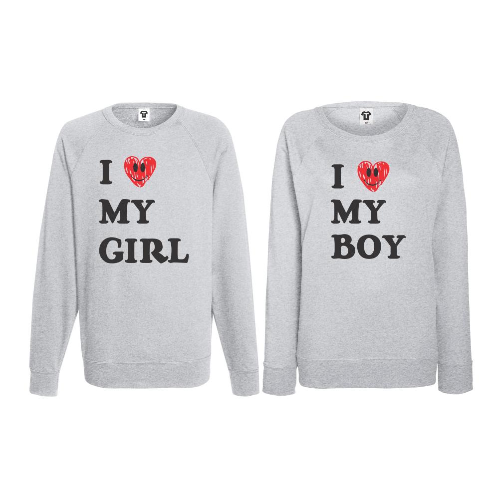Set triko s dlouhým rukávem I LOVE MY GIRL BS-CP-021G