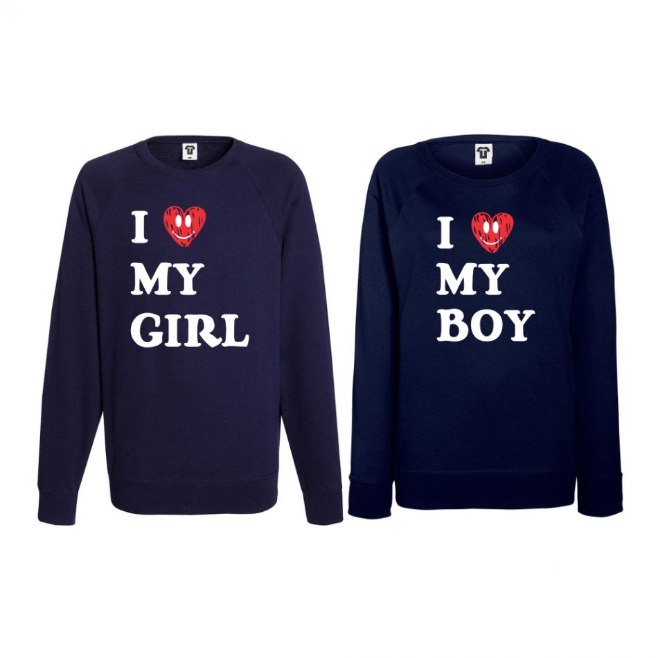 Set triko s dlouhým rukávem I LOVE MY GIRL BS-CP-021N