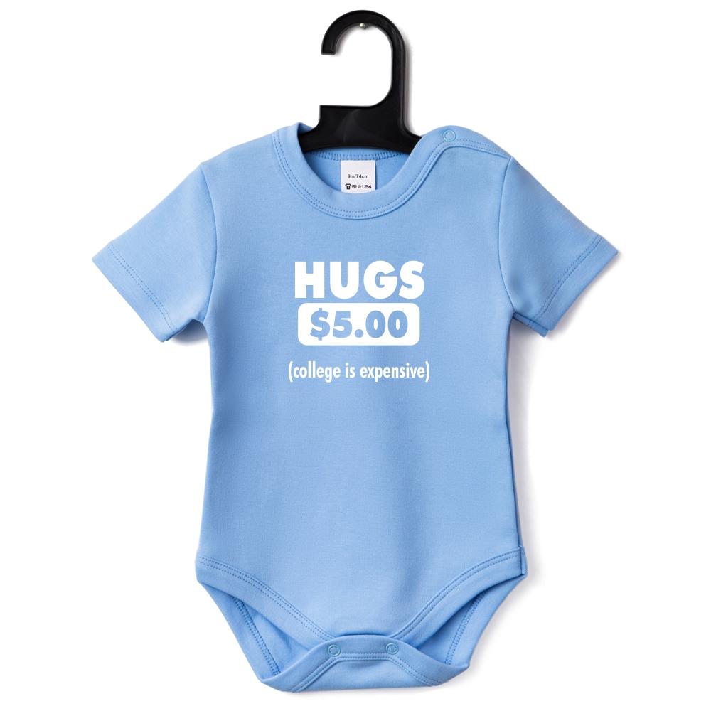 Kojenecké body světlě modrá Hugs B-D-146B1