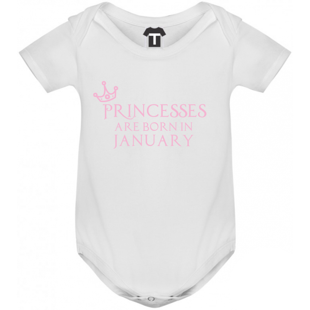 Dětské body Princesses Are Born In January B-D-208-1