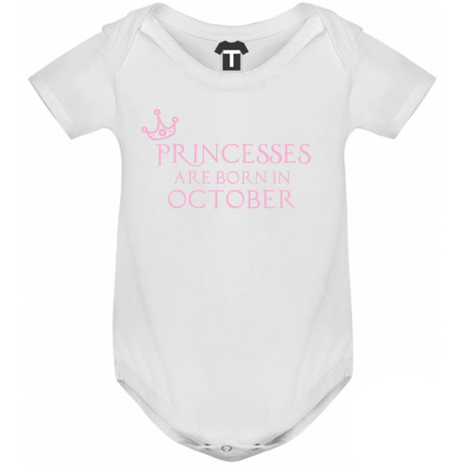 Dětské body Princesses Are Born In Octomber B-D-208-10