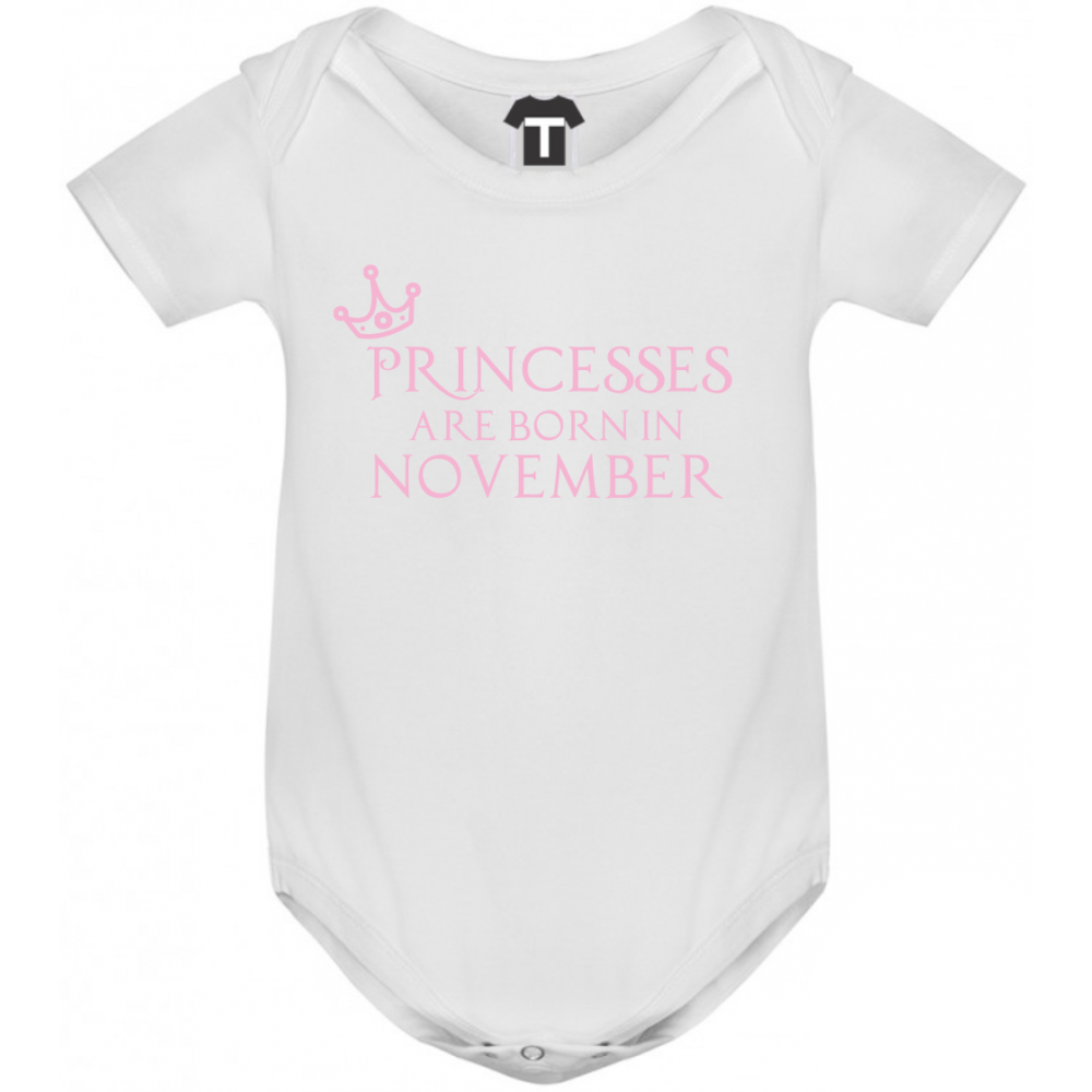 Dětské body Princesses Are Born In November B-D-208-11