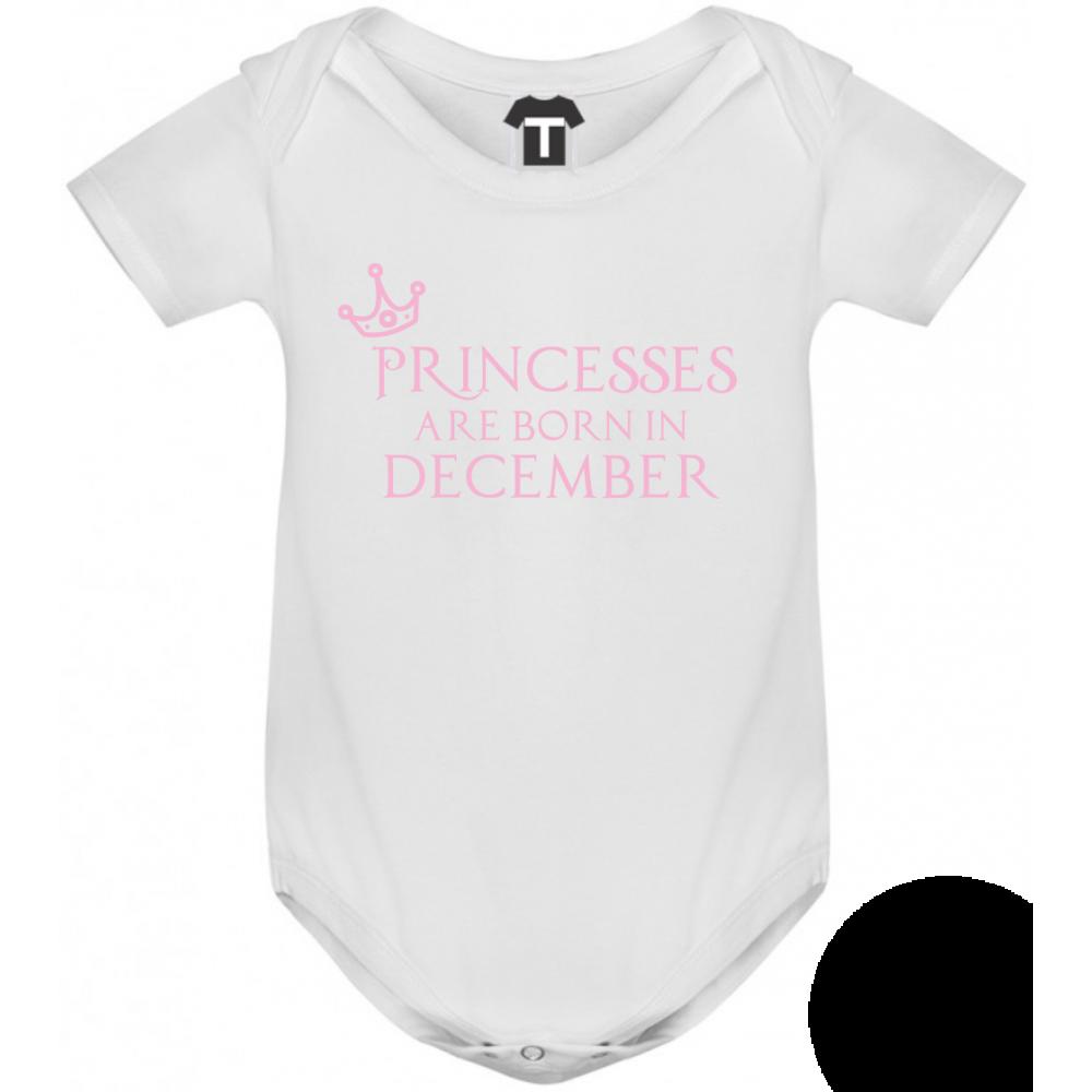 Dětské body Princesses Are Born In December B-D-208-12