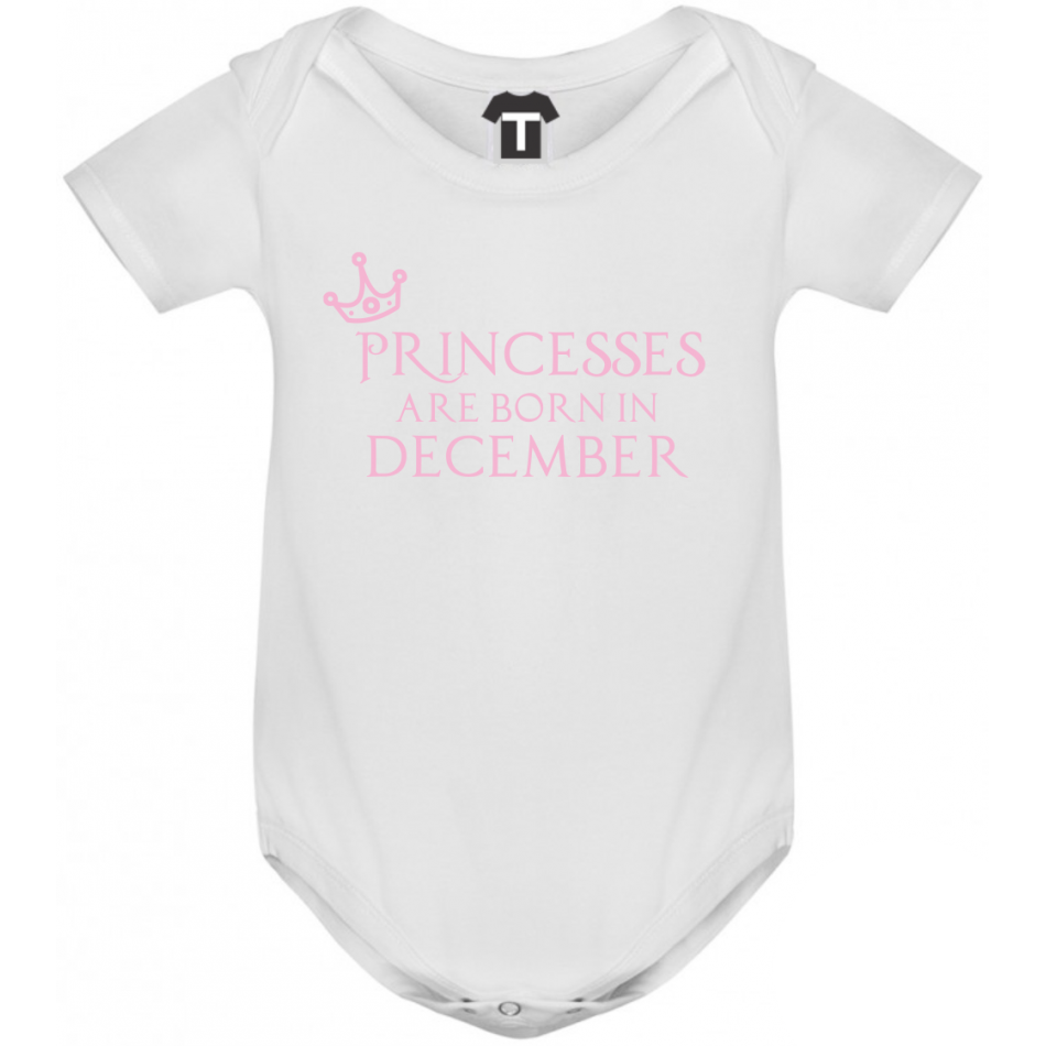 Dětské body Princesses Are Born In December B-D-208-12