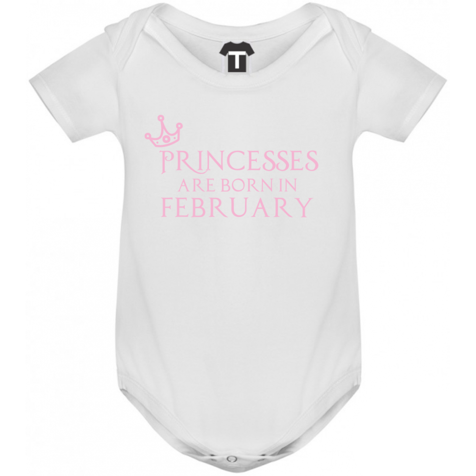 Dětské body Princesses Are Born In February B-D-208-2