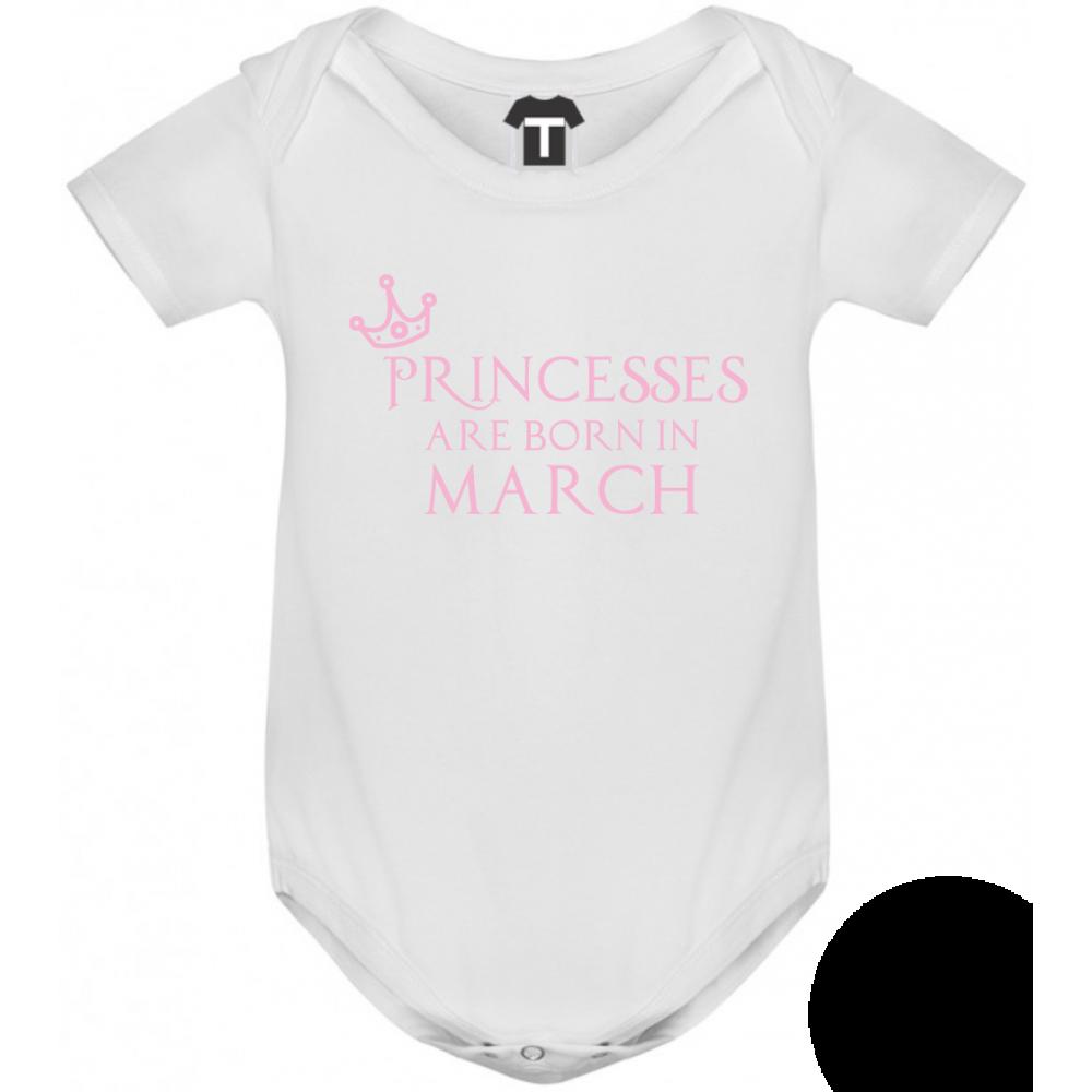 Dětské body Princesses Are Born In March B-D-208-3