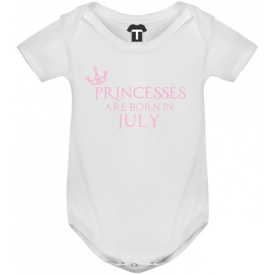 Dětské body Princesses Are Born In July B-D-208-7
