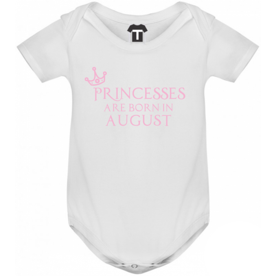 Dětské body Princesses Are Born In August B-D-208-8