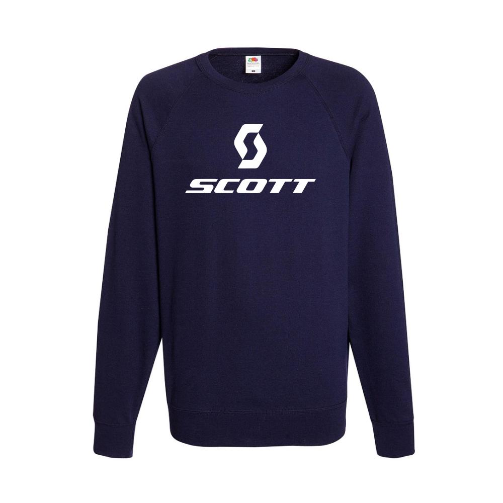 Tmavě modré pánské triko s dlouhým rukávem Scott B-M-AU-019N