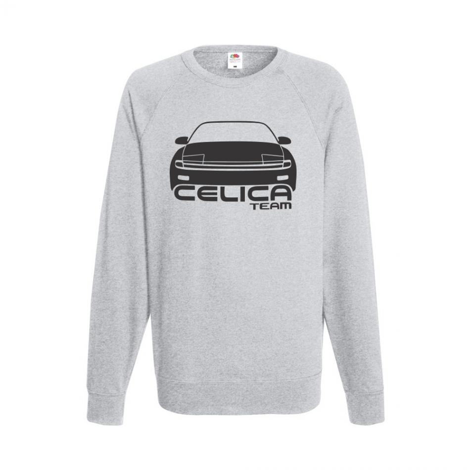Šedé pánské triko s dlouhým rukávem Celica Team B-M-AU-039G