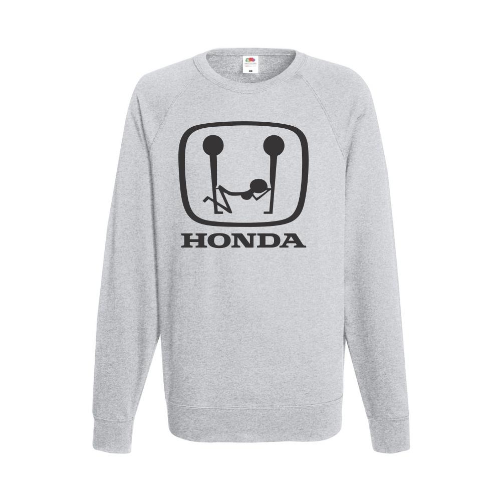 Šedé pánské triko s dlouhým rukávem Honda Sex B-M-AU-043G